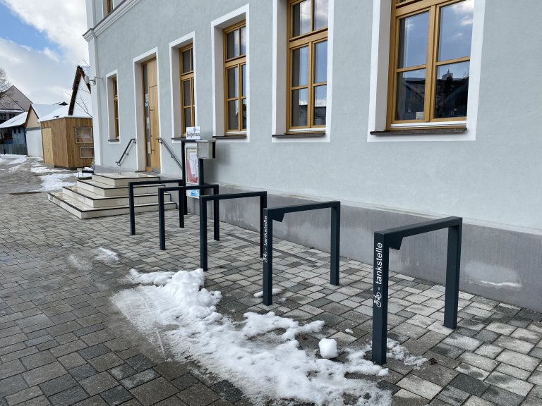 Ladepunkt Fahrrad Bücherei
